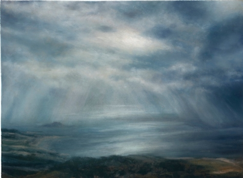 Matthew Draper_Rays and Rain (Part I) Fidra From The Law_Pastel on Paper 2019_79cm x 107.5cm_-ú5,850.00_47 copy